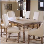 Hillsdale Hartland Extension Dining Table in Light Washed Oak