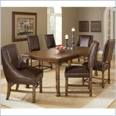 Hillsdale Hartland 7 Piece Dining Set in Dark Oak