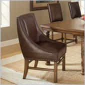 Hillsdale Hartland Dining Arm Chair in Dark Oak