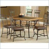 Hillsdale Lakeview 7 Piece Rectangle Dining Set with Slate Chairs
