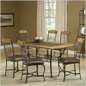 Hillsdale Lakeview 7 Piece Rectangle Dining Set with Wood Panel Chairs