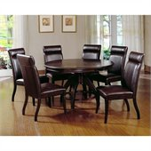 Hillsdale Nottingham 7 Piece Dining Set in Dark Walnut