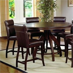 Hillsdale Nottingham 5 Piece Counter Height Dining Set in Dark Walnut