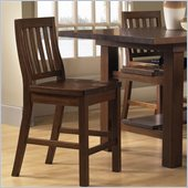 Hillsdale Outback Counter Stool in Distressed Chestnut (set of 2)