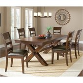Hillsdale Park Avenue 7 Piece Dining Set in Dark Cherry