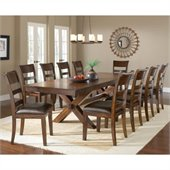 Hillsdale Park Avenue 11 Piece Dining Set in Dark Cherry