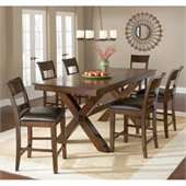 Hillsdale Park Avenue 7 Piece Counter Height Dining Set in Dark Cherry