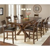 Hillsdale Park Avenue 9 Piece Counter Height Dining Set in Dark Cherry