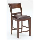 Hillsdale Park Avenue Dining Counter Stools in Dark Cherry (set of 2)