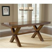 Hillsdale Park Avenue Counter Height Trestle Table in Dark Cherry