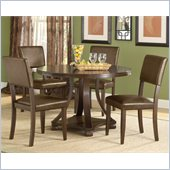 Hillsdale Tarranto 5 Piece Dining Set in Dark Cherry
