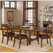 Hillsdale Villagio 7 Piece Dining Set in Dark Chestnut