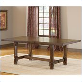 Hillsdale Villagio Trestle Dining Table in Dark Chestnut