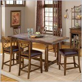 Hillsdale Villagio 7 Piece Counter Dining Set in Dark Chestnut