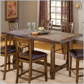 Hillsdale Villagio Trestle Counter Height Dining Table in Dark Chestnut
