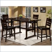 Hillsdale Whitfield 5 Piece Counter Height Dining Set in Merlot