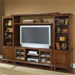 Hillsdale Grand Bay Large Entertainment Wall in Warm Brown