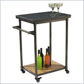Hillsdale Thornhill Small Kitchen Cart in Washed Ash/Pewter/Black Rub