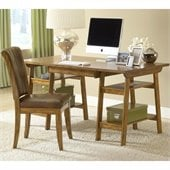Hillsdale Park Glen Desk And Chair in Medium Oak