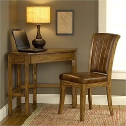 Hillsdale Solano Corner Desk And Chair in Medium Oak