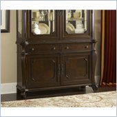 Hillsdale Grandover Buffet Server And Hutch in Dark Cherry