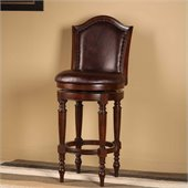 Hillsdale Barcelona 26 Swivel Counter Stool in Brown Cherry