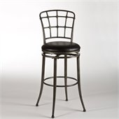 Hillsdale Claymont 26 Swivel Counter Stool in Pewter Rub / Black