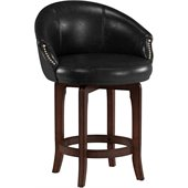 Hillsdale Dartford 25 Swivel Counter Stool in Dark Brown Cherry