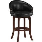 Hillsdale Dartford 30 Swivel Bar Stool in Dark Brown Cherry