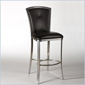 Hillsdale Easton 26 Non-Swivel Counter Stool in Silver