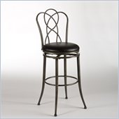 Hillsdale Landover 26 Swivel Counter Stool in Pewter Rub / Black