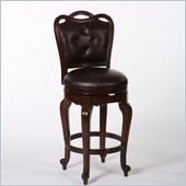 Hillsdale Langdale 26 Swivel Counter Stool in Dark Cherry