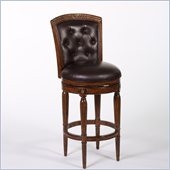 Hillsdale Northfield 26 Swivel Counter Stool in Dark Cherry