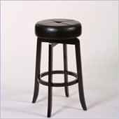 Hillsdale Rhodes 30 Backless Bar Stool in Walnut