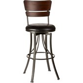 Hillsdale Santa Monica 26 Swivel Counter Stool in Pewter / Cherry
