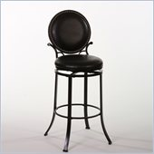 Hillsdale Spencer 26 Swivel Counter Stool in Matte Black