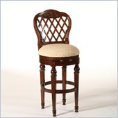 Hillsdale Woodridge 26.5 Swivel Counter Stool in Walnut