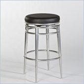 Hillsdale Hyde Park 26 Backless Swivel Counter Stool in Chrome