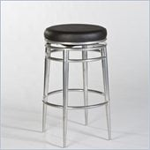 Hillsdale Hyde Park 30 Backless Swivel Bar Stool in Chrome