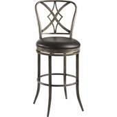 Hillsdale Jacqueline 30 Swivel Bar Stool in Pewter Rub/Black