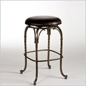 Hillsdale Keene 26 Backless Swivel Counter Stool in Pewter