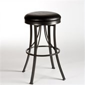 Hillsdale Ontario 30 Backless Bar Stool in Pewter