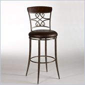 Hillsdale Savoy 26 Swivel Counter Stool in Brown Shimmer / Cherry