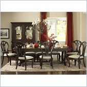 Hillsdale Grandover Large Table Dining Set in Dark Cherry