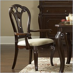 Hillsdale Grandover Arm Dining Chair in Dark Cherry (set of 2)