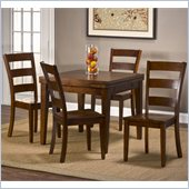 Hillsdale Harrods Creek 5 Piece Dining Set in Medium Brown Oak