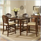 Hillsdale Woodridge 5 Piece Counter Height Dining Set in Walnut
