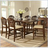 Hillsdale Woodridge 7 Piece Counter Height Dining Set in Walnut