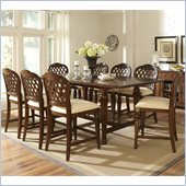 Hillsdale Woodridge 9 Piece Counter Height Dining Set in Walnut