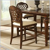 Hillsdale Woodridge Counter Height Stool in Walnut (set Of 2)